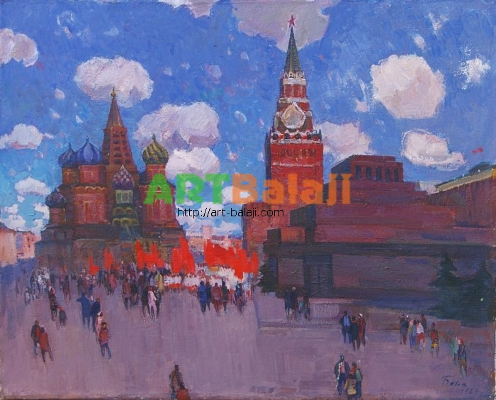 Artist : Белов В.Е. Красная площадь 100-80 х.м. 84г 2.JPG