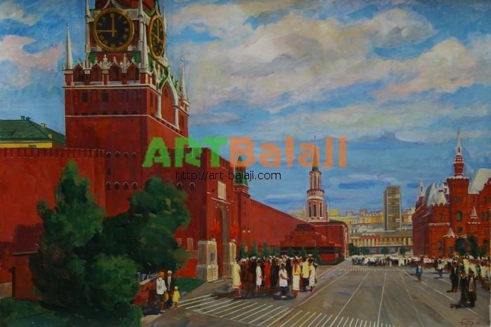 Artist : Бондарь И.И. Красная площадь 110-160 х.м. 88г 1,5.JPG
