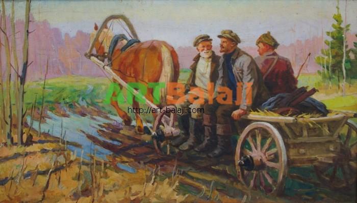 Artist : Бородай В. Ленин с крестьянами 58-100 х.м. 60е 0.8.JPG