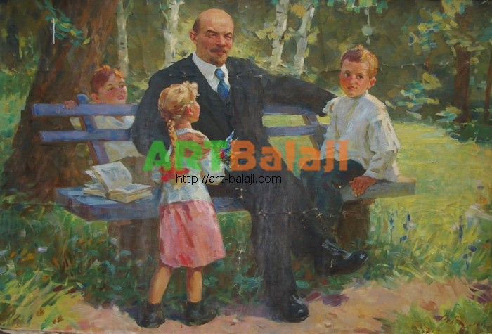 Artist : Бугай В. Ленин с детьми 100-149 х.м. 70е 2.JPG