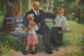 Бугай В. Ленин с детьми 100-149 х.м. 70е 2.JPG