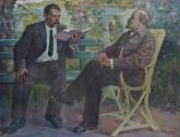 Варшавский А.Э. Ленин и Горький 149-193 х.м. 75г  0.8.JPG
