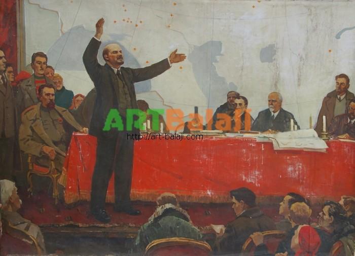 Художник : Васильченко И.Ю.  Выступление Ленина