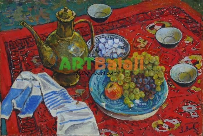 Artist : Волковинская З. Узбекский чай 66-97 х.м. 68г 1,2.JPG