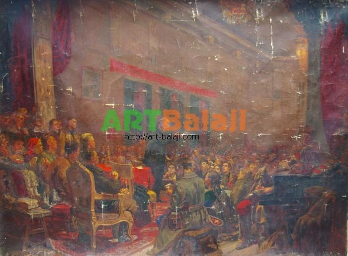 Artist : Выступление ленина на 3 съезде Коп Клепиков,Попов 173-240 х.м. 7