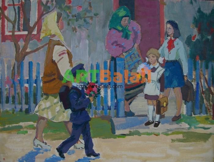 Artist : Горшков Н. Первый звонок 37-49,5 к.м. 70е.JPG