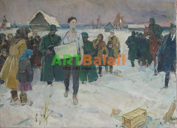 Artist : Гребенник В.Растрел партизана 110-150 х.м. 70е   1,5.JPG