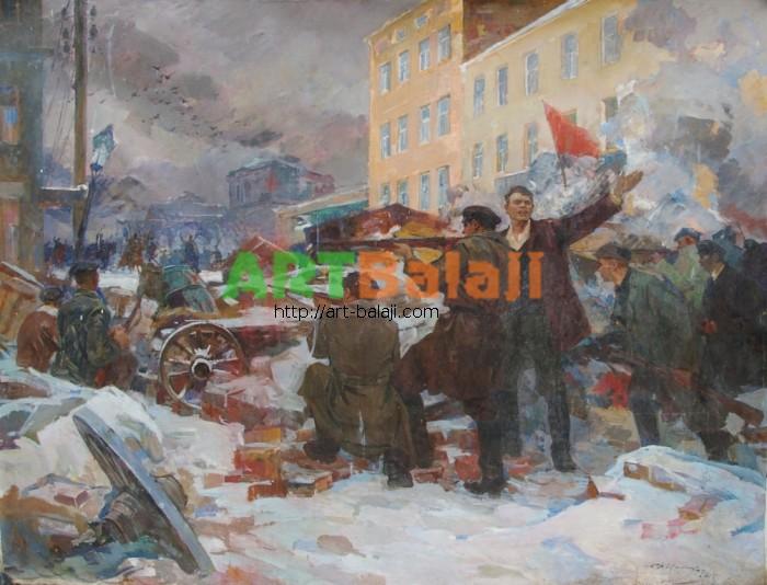 Artist : Коваленко С. Революция 168-219 х.м 70е 3,5.JPG