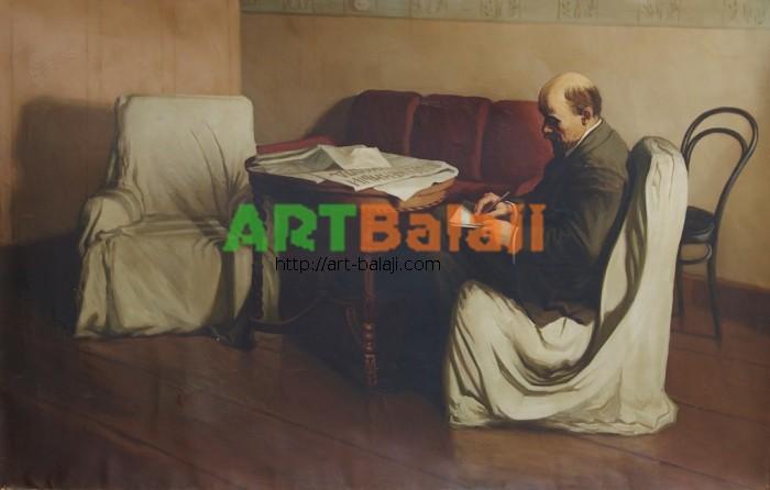 Artist : Ленин в кабинете 89-138 х.м. 70е 0,15.JPG