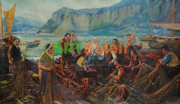 Artist : Ленин с рыбаками 133-228 х.м. 60е 0,5.JPG