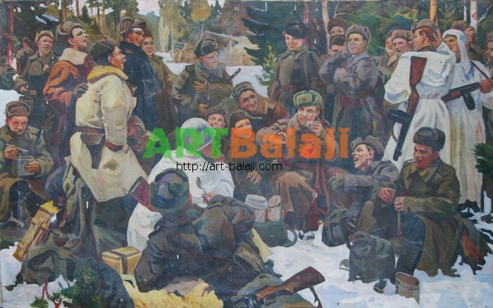 Artist : Отдых после боя 127-200 х.м. 70е.JPG