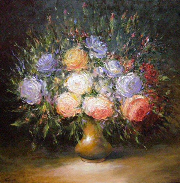 Artist Stegaresku Tudor: Posy of roses