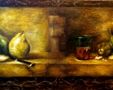 Still life, moved in the time